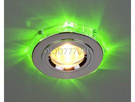Точечный светильник со светодиодами 2020/2 SL/LED/GR (хром / зеленый)