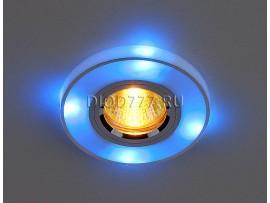 Точечный светильник со светодиодами 2070/2 SL/BL/LED (хром / синий)