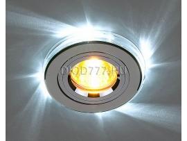 Точечный светильник со светодиодной подсветкой. Оптовая продажа. 2060/2 SL/LED/WH (хром / белый)