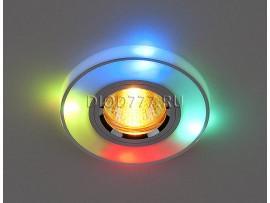 Точечный светильник со встроенными светодиодами 2070/2 SL/7-MULTI/LED (хром / мультиколор)