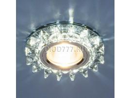 Точечный светильник светодиодный 6037 MR16 BL сапфир/хром