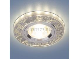 Точечный светодиодный светильник 8096 MR16 SL серебро