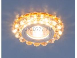 Точечный светодиодный светильник с хрусталем 6036 MR16 GD золото