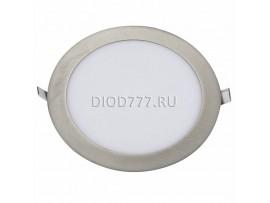 Встраиваемый потолочный светодиодный светильник DLR001 18W 4200K сатин никель SN