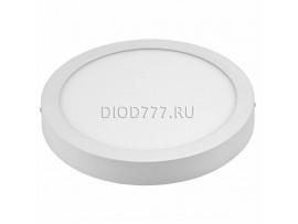 Встраиваемый потолочный светодиодный светильник DLR002 24W 4200K белый WH