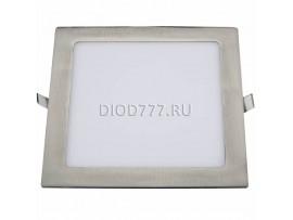 Встраиваемый потолочный светодиодный светильник DLS001 18W 4200K сатин никель SN