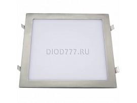 Встраиваемый потолочный светодиодный светильник DLS001 24W 4200K сатин никель SN