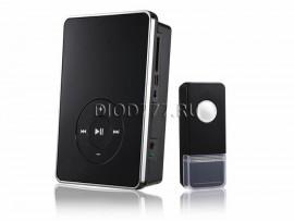 Звонок беспроводной DBQ09M WL MP3 16M IP44 Черный