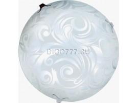 Светильник светодиодный (потолочный) СЛЛ 012 16Вт Снежинка (6) стекло
