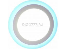Светильник светодиодный встраиваемый (круг, голубое свечение) LE LED 2BCLR 16W 7500/6000K (20)