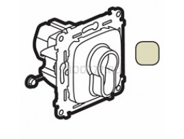 Legrand Valena Allure Переключатель кнопочный с ключом, 3 положения, с самовозвратом 10А 230В С лицевой панелью Слоновая кость