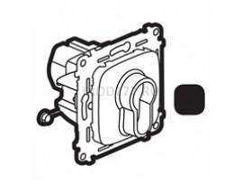 Legrand Valena Allure Выключатель с ключом, 2 положения 10А 230В С лицевой панелью Антрацит