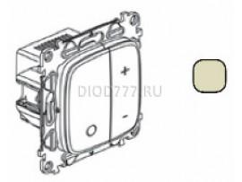 Legrand Valena Allure Светорегулятор кнопочный универсальный 400Вт без нейтрали С лицевой панелью Слоновая кость