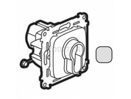 Legrand Valena Allure Выключатель с ключом, 2 положения 10А 230В С лицевой панелью Алюминий