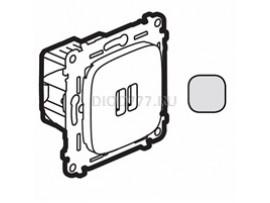 Legrand Valena Allure Зарядное устройство с двумя USB-разьемами 240В/5В 1500мА С лицевой панелью Алюминий