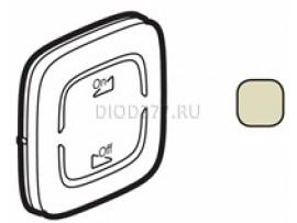 """Legrand Valena Allure MyHome Лицевая панель для механизмов BUS/SCS С символом """"Светорегулятор On-Off"""" 2 модуля Слоновая кость"""