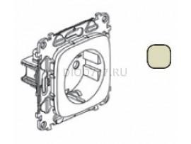 Legrand Valena Allure Силовая розетка 2К+З 16А 250В с лицевой панелью Безвинтовые зажимы Слоновая кость