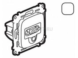 Legrand Valena Allure Розетка для аудио/видео устройств с разьемами HD15/гнездо Jack 3, 5мм С лицевой панелью Белая