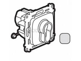 Legrand Valena Allure Переключатель кнопочный с ключом, 3 положения, с самовозвратом 10А 230В С лицевой панелью Алюминий