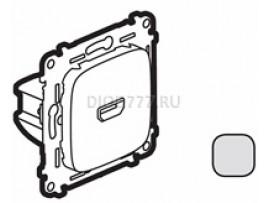 Legrand Valena Allure Розетка для аудио/видео устройств HDMI Тип А С лицевой панелью Алюминий