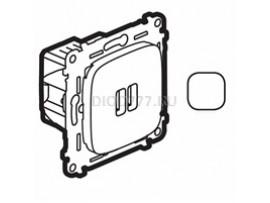 Legrand Valena Allure Зарядное устройство с двумя USB-разьемами 240В/5В 1500мА С лицевой панелью Белое