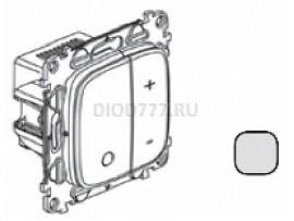 Legrand Valena Allure Светорегулятор кнопочный универсальный 400Вт без нейтрали С лицевой панелью Алюминий