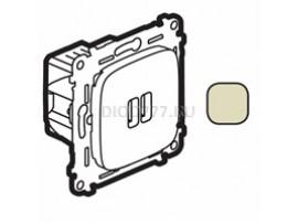 Legrand Valena Allure Зарядное устройство с двумя USB-разьемами 240В/5В 1500мА С лицевой панелью Слоновая кость