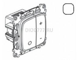 Legrand Valena Allure Светорегулятор кнопочный универсальный 400Вт без нейтрали С лицевой панелью Белый