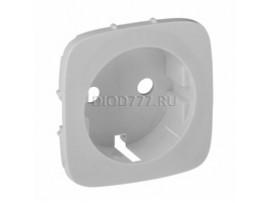 Legrand Valena Allure Лицевая панель для силовой розетки 2К+З с зажимами 6кв мм Алюминий