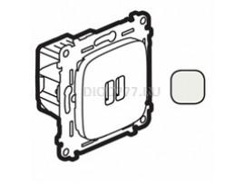 Legrand Valena Allure Зарядное устройство с двумя USB-разьемами 240В/5В 1500мА С лицевой панелью Жемчуг