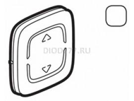 """Legrand Valena Allure MyHome Лицевая панель для механизмов BUS/SCS С символом """"Вверх-вниз"""" 2 модуля Белая"""