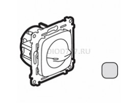Legrand Valena Allure Выключатель вентилятора 4-позиционный С лицевой панелью Винтовые зажимы Алюминий