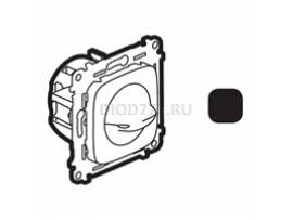 Legrand Valena Allure Выключатель вентилятора 4-позиционный С лицевой панелью Винтовые зажимы Антрацит