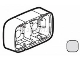 Legrand Valena Allure Коробка для накладного монтажа 2-постовая Алюминий