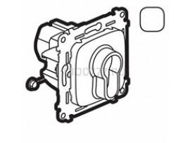 Legrand Valena Allure Переключатель кнопочный с ключом, 3 положения, с самовозвратом 10А 230В С лицевой панелью Белый