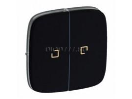 Legrand Valena Allure Лицевая панель для выключателя двухклавишного с подсветкой Антрацит