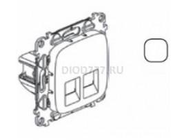 Legrand Valena Allure Информационная розетка двойная RJ45 Кат 6 UTP С лицевой панелью Белая