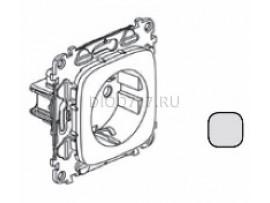 Legrand Valena Allure Силовая розетка 2К+З 16А 250В с лицевой панелью Безвинтовые зажимы Алюминий