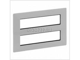 Legrand Valena Life Рамка для модульных устройств Mosaic 2x4x2 модуля Алюминий