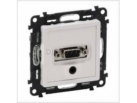 Legrand Valena Life Розетка для аудио/видео устройств с разьемами HD15/гнездо Jack 3, 5мм С лицевой панелью Белая