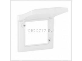 Legrand Valena Life IP44 Рамка влагозащитная, с откидной крышкой Белая 1-постовая