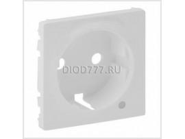 Legrand Valena Life Лицевая панель розетки 2К+З c линзой для подсветки/индикации Белая