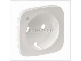 Legrand Valena Allure Лицевая панель розетки 2К+З с линзой для подсветки/индикации Жемчуг
