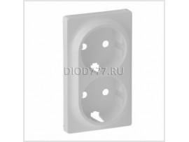 Legrand Valena Life Лицевая панель для двойной силовой розетки 2х2К+З Белая