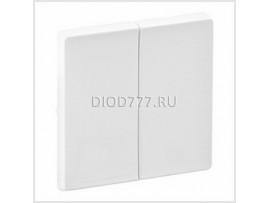 Legrand Valena Life Лицевая панель для двухклавишного выключателя Белая