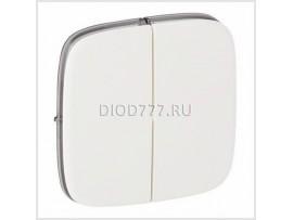Legrand Valena Allure Лицевая панель для двухклавишного выключателя Белая