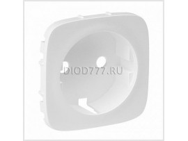 Legrand Valena Allure Лицевая панель розетки 2К+З Белая