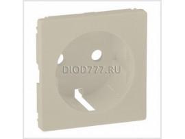 Legrand Valena Life Лицевая панель для силовой розетки 2К+З с зажимами 6кв мм Слоновая кость