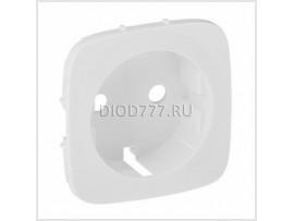 Legrand Valena Allure Лицевая панель для силовой розетки 2К+З с зажимами 6кв мм Белая