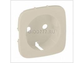 Legrand Valena Allure Лицевая панель для силовой розетки 2К+З с зажимами 6кв мм Слоновая кость